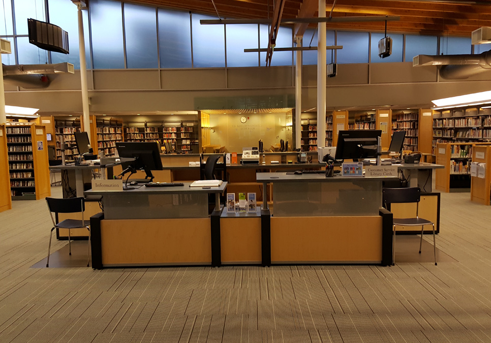 Service desk area at the Ballard Branch