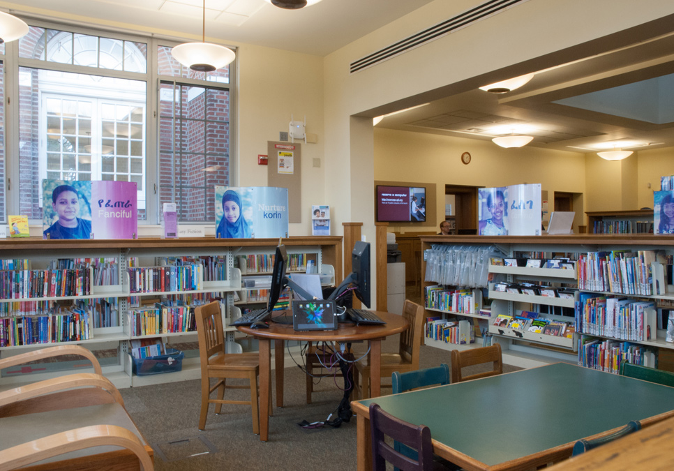 Children's area at the Columbia Branch