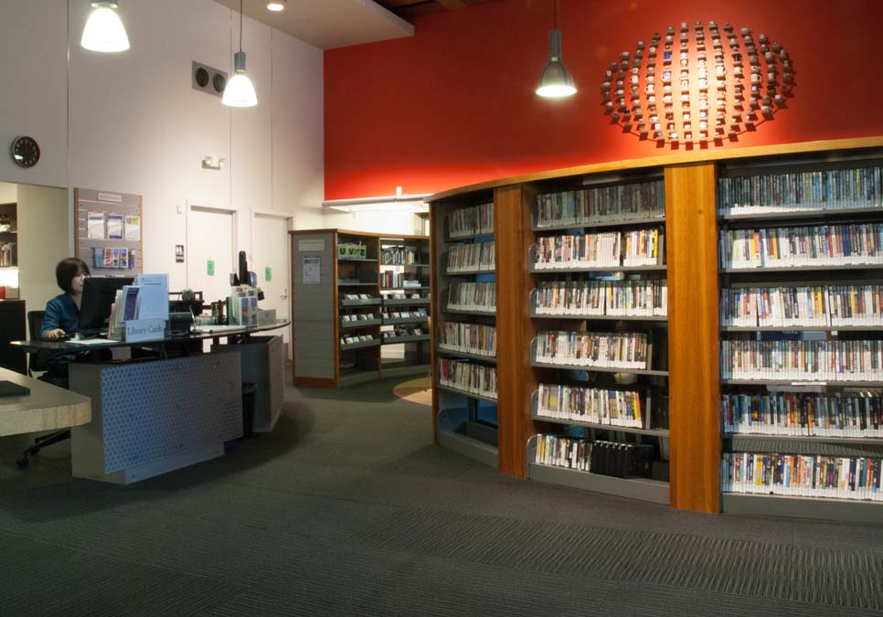 Service desk area at the International District/Chinatown Branch