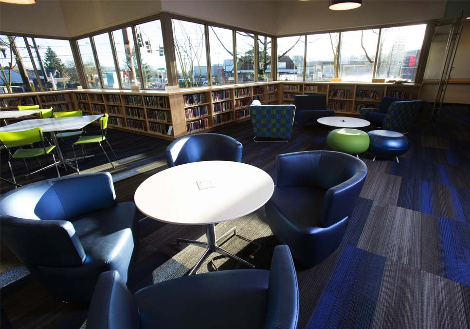 Teen area at the Rainier Beach Branch