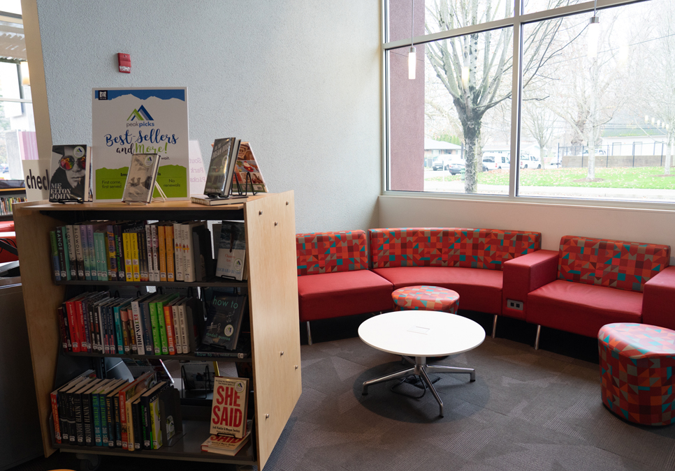 Reading area at the South Park Branch