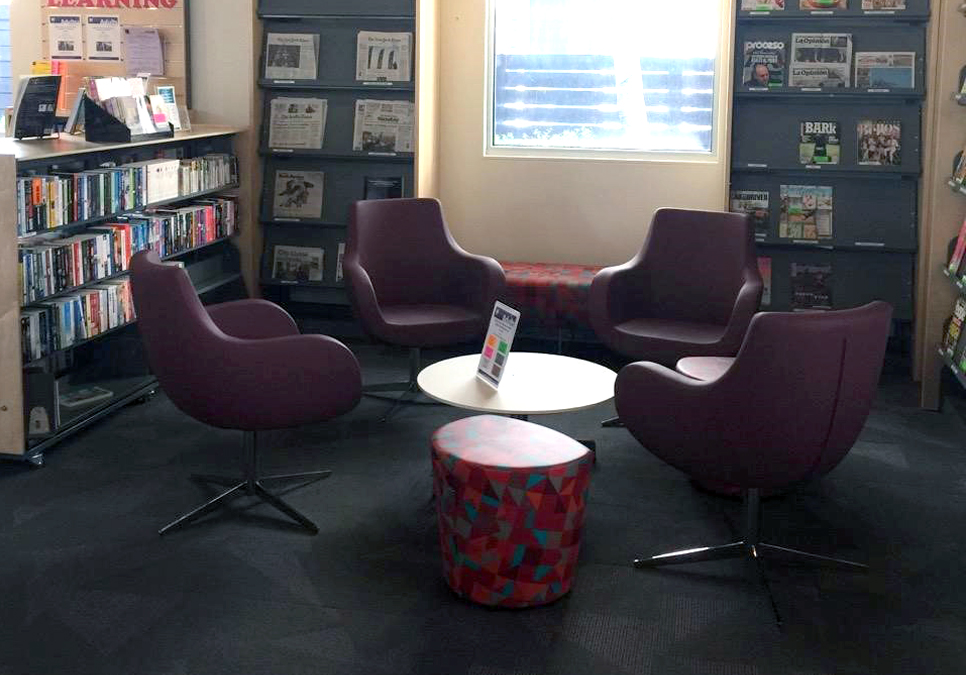 Adult reading area at the South Park Branch