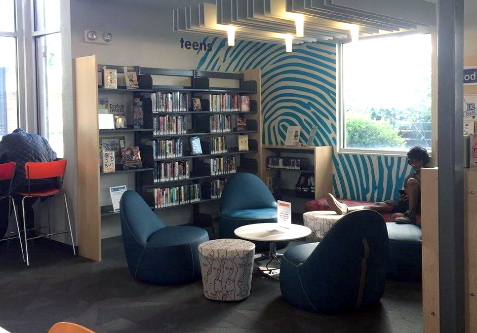 Teen area at the South Park Branch