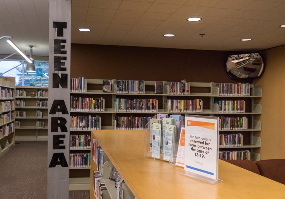 Teen area at the Southwest Branch